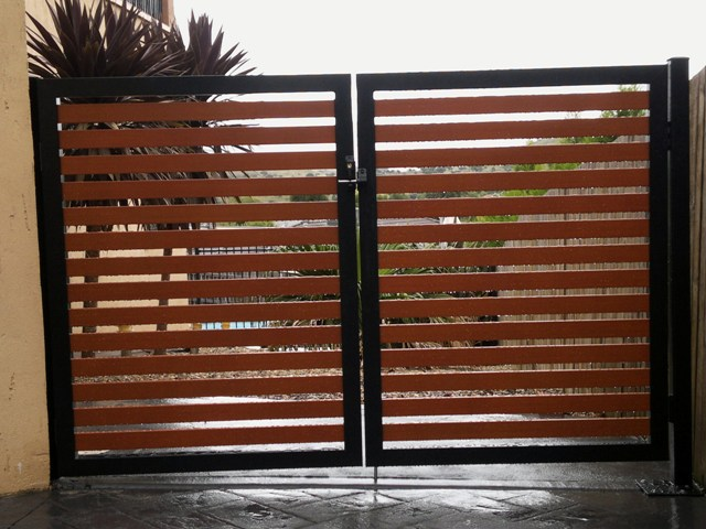 Black Wooden Fence
